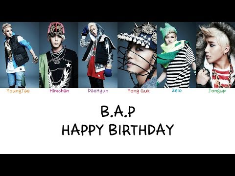 B.A.P - Happy Birthday (Color coded lyrics Han|Rom|Eng)