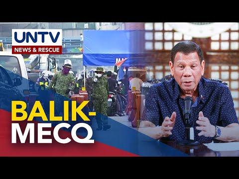 [UNTV]  Metro Manila at ilang kalapit na lalawigan, balik MECQ mula Aug. 4 – 18