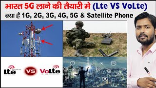 What is 2G, 3G, 4G, 5G, LTE, VoLTE | How Does Mobile Phone Work | Parts Of Mobile Tower | MIST Cable