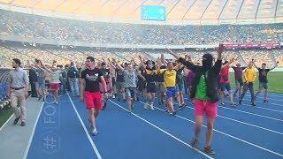 Массовой драки болельщиков на стадионе Олимпийский в Киеве,на глазах у главы МВД Арсена Авакова