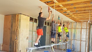 Construction Workers Debate Makita DeWalt or Hilti Screwguns (DRYWALL)