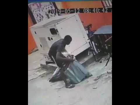 Thief captured in action by CCTV