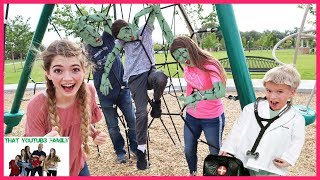 Infected   Zombie INFECTiON Tag Game In Real Life  That YouTub3 Family I Family Channel