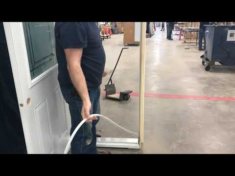 Removing and reinstalling weatherstrip in a door