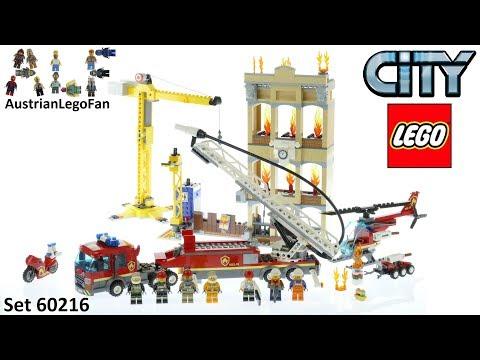 Vidéo LEGO City 60216 : Les pompiers du centre-ville