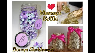 Message Bottle With Glitter Lightning | Love Handmade Art | Handmade Gift | Somya Shekhawat