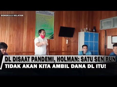 DL Saat Pandemi, Holman: Satu Sen Pun Tidak Akan Kita Ambil Dana Itu