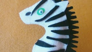 Make A Felt Zebra Finger Puppet - DIY Crafts - Guidecentral