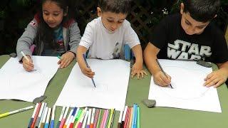 KIDS DRAWING CHALLENGE | Fatemas Art Show