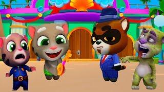 ГОВОРЯЩИЙ ТОМ АКВАПАРК ПРОХОЖДЕНИЕ веселое видео мультик для детей #УШАСТИК KIDS