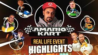 MARIO KART in REALLIFE MIT DER CREW | Amario Kart Event - Highlights