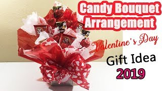 How To Make Vanlentine Candy Bouquet Arrangement | EASY DIY | GIFT IDEAS