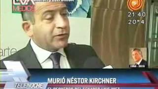 Luis Juez  En Canal 12 Hablando Fallecimiento De Nestor Kirchner 27/10/2010