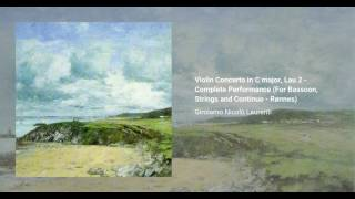 Violin Concerto in C major, Lau 2