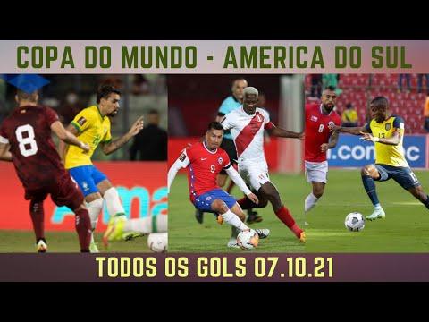 COPA DO MUNDO - TODOS OS GOLS  AMERICA DO SUL 07.10.21 #futebol