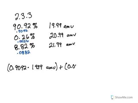 2 3: Calculating Atomic Masses (Problems) - Chemistry LibreTexts