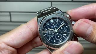 藍鋼皇Audemars Piguet Royal Oak 25860ST 顏色功能尺寸完美組合