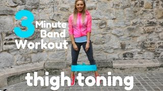 3 MINUTE THIGH TONING RESISTANCE BAND WORKOUT - also sculpts and lifts the booty by Lucy Wyndham-Read