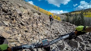 Nate Hills and Mike Hall negotiate all the primitive trail gnar Hell's can thow at them!