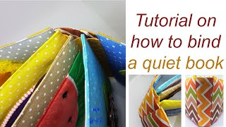 Quiet book binding tutorial
