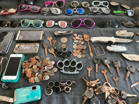 River Finds! - Rings, Coins, Knives and Sunglasses!