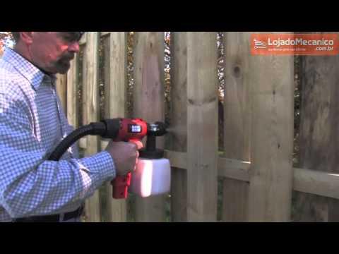Pistola de Pintura e Pulverizador Alto Volume e Baixa Pressão HVLP 350W  - Video