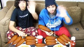 Corn Dog Eating Competition!
