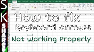 Arrow keys not working in MS Excel - Scroll Lock