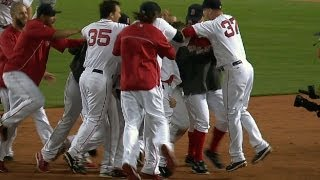 Red Sox walk off in wild six-run ninth