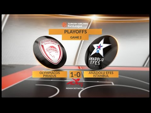 EuroLeague Highlights Playoffs 2: Olympiacos Piraeus 71-73 Anadolu Efes Istanbul