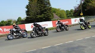 Suzuki SV650 v Yamaha MT-07 v Kawasaki ER6n v WK650i: Isle of Man Lightweight TT Test