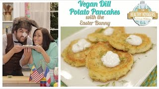 Vegan Dill Potato Pancakes for Easter and Passover