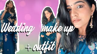 INDIAN WEDDING GET READY WITH ME | GUEST HAIR + MAKEUP + OUTFIT || KRITIKA KHURANA
