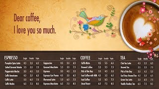 Coffee Place Digital Menu Board