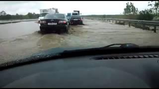 Трасса Минводы, 24 мая 2017 года, паводок