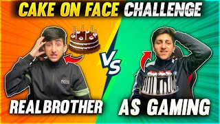 As Gaming Vs Real Brother | Cake On Face Challenge 🎂Free Fire | Funny Moment 😂 - Garena Free Fire