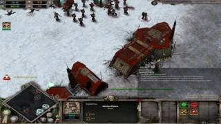 Warhammer 40,000: Dawn of War Dark Crusade Захват базы Эльдар.