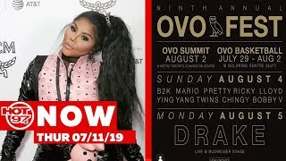 Drake Announces OVOFest Lineup + Lil Kim Says She Is Done Doing Press On #hot97now