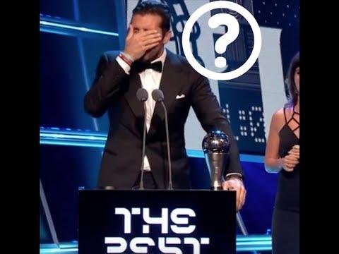 Buffon can not speak English in The Best FIFA Football Awards 2017
