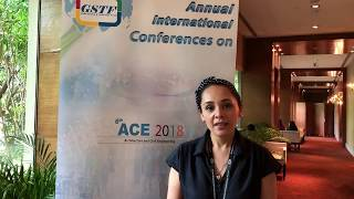 Ms. Ana Silvia Aguilera Vieyra at ACE Conference 2018 by GSTF Singapore