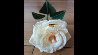 How To Make A Rose With Crepe Paper / Easy Paper Rose