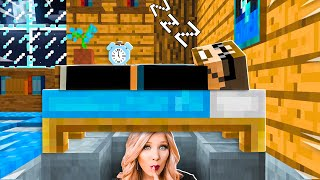 I Spent 24 Hours in SSUNDEE's Minecraft House! *he had no clue*