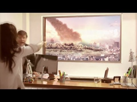 LG Ultra HD TV Prank – The End Of The World