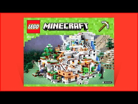 LEGO MINECRAFT 21137 The Mountain Cave Construction Toy UNBOXING FAST FAST Speed Build