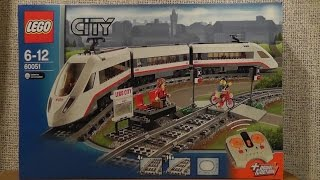preview picture of video 'LEGO City 60051 superszybki pociąg pasażerski'