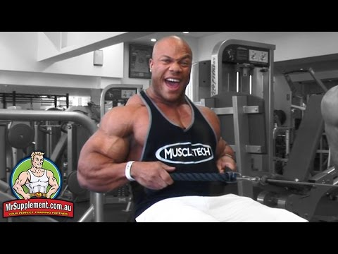 Phil Heath's Rope Seated Row   Back Exercise #3