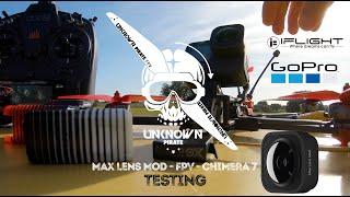 GOPRO MAX LENS MOD - FIRST TEST & FIRST CRASH - FPV HORIZON LOCKED - iFlight Chimera 7 (1440p50fps)