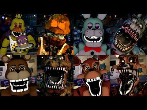 Five Nights at Freddy's Very Scary Nightmare Animatronics (Fan Made
