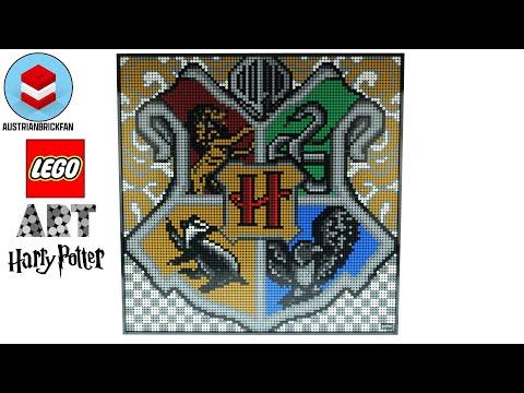 Vidéo LEGO Art 31201 : Harry Potter Les blasons de Poudlard