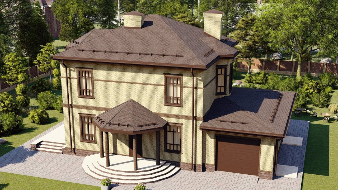 Проект дома 237-A, Площадь дома: 237 м2, Размер дома:  16,1x9,8 м